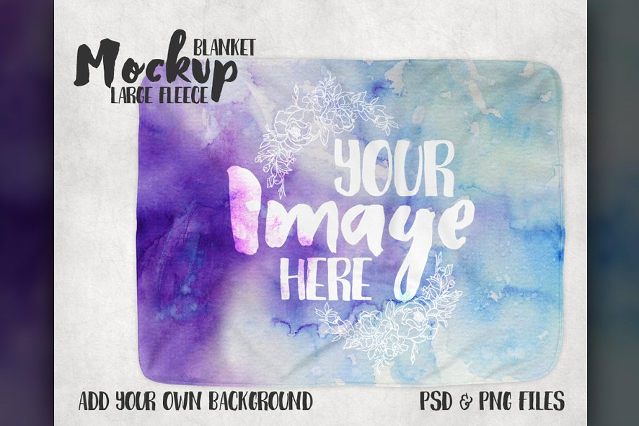 A Large Sized Fleece Blanket PSD Mockup