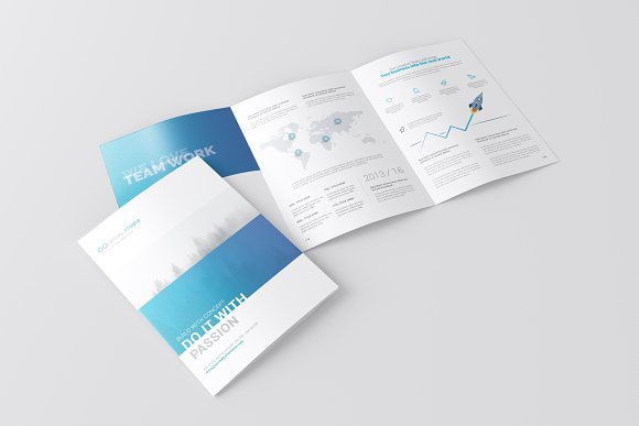 A3 And A4 Size Realistic Brochure Mockup