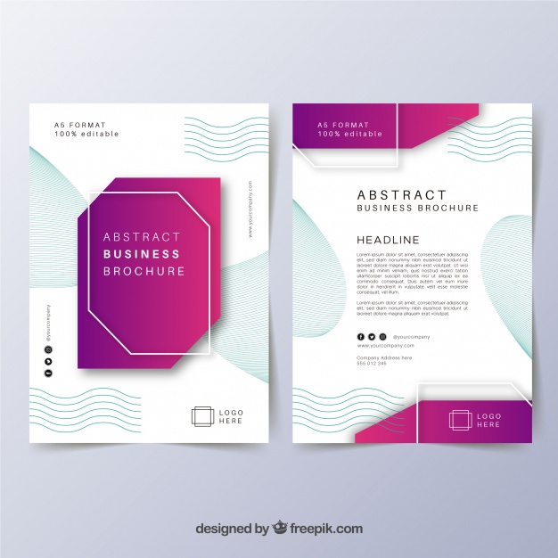 Abstract Print Business Brochure Vector File