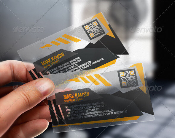 Angle Business Plastic Card PSD Template Design Idea.