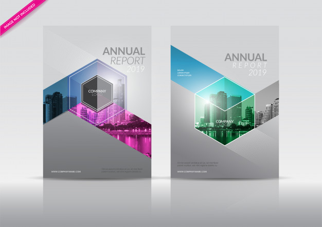 Annual Report Flyer Vector File