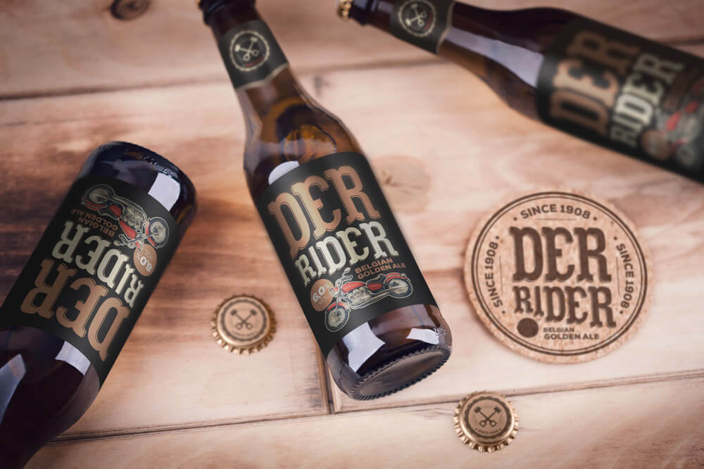 Awesome Beer Bottle PSD: