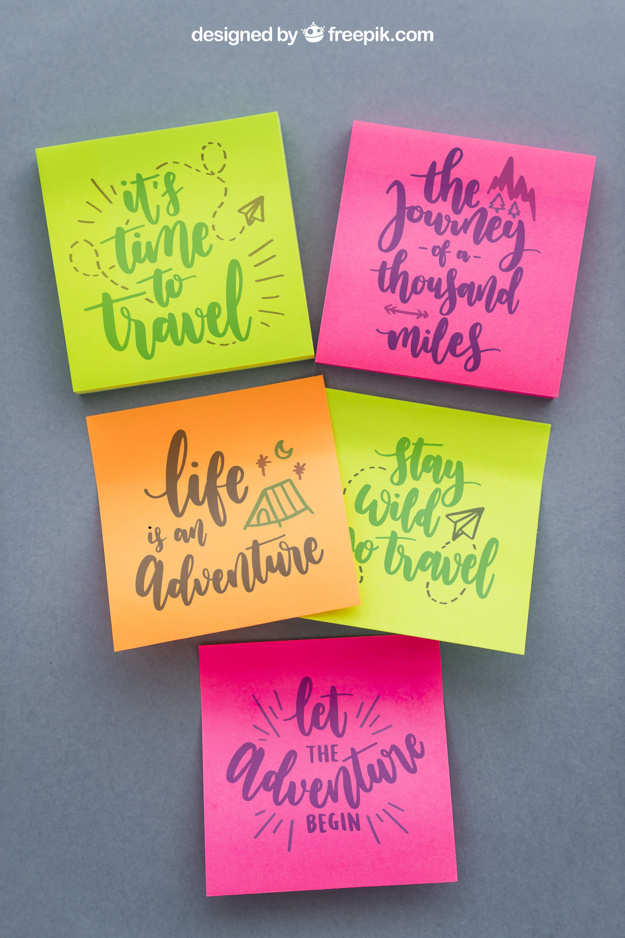 Awesome Sticky Notes PSD Design