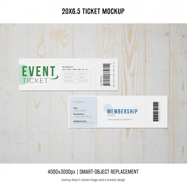 Bar code Print Ticket Design
