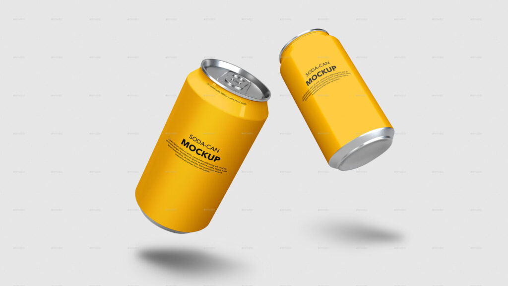 Beer and Soda Can Mockups