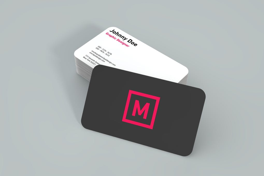 Bi-Color Two Side Print Business Card PSD File