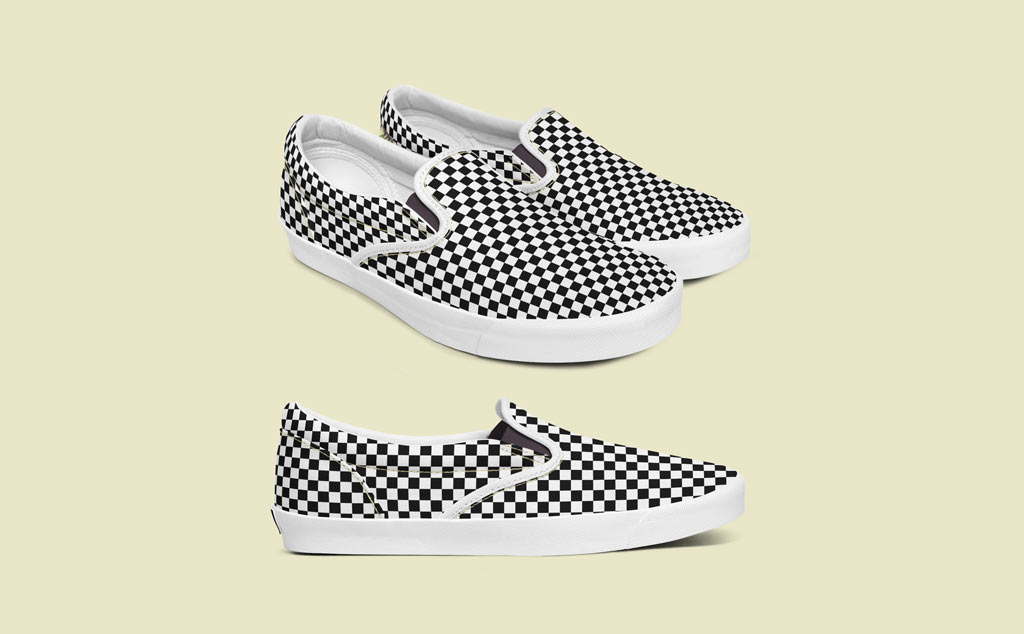 Black and White Designing Shoe PSD