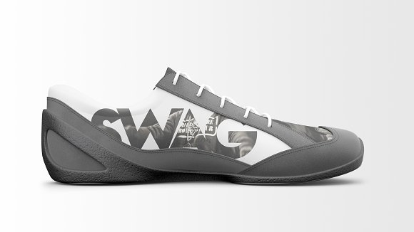 Black and White Sneaker Mockup PSD