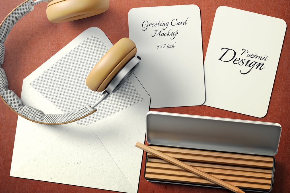 Blank Business Card Or GreetingCard Illustration With Cover