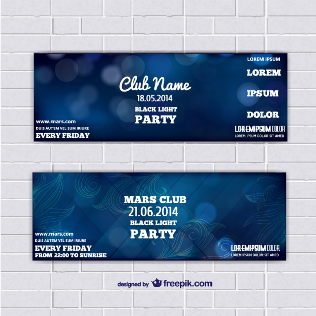 Blue Abstract Background Ticket template