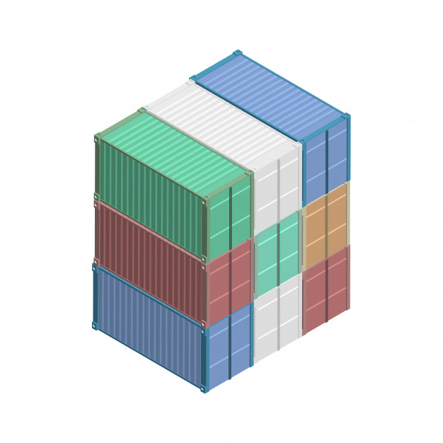 Blue Color Shipping Container