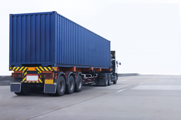 Blue Color Shipping Container Mockup