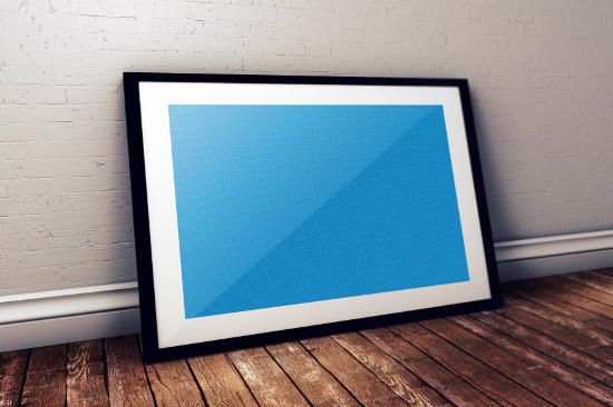 Blue Layer Poster Template PSD