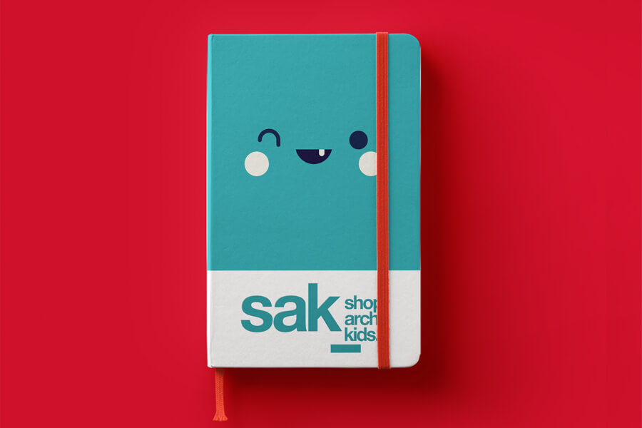 Blue and White Color Kids Notebook Mockup