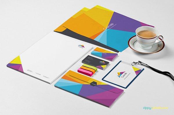 Branding scene featuring ID Card Mockup PSD
