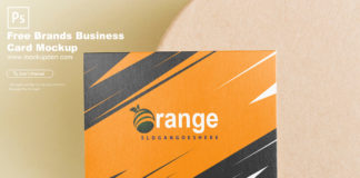 Free Brands Business Card Mockup PSD Template