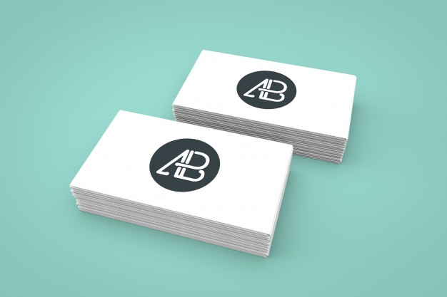 Business Card Design with Logo Mockup