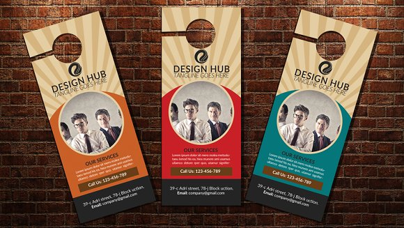 Business Door Hanger Template: