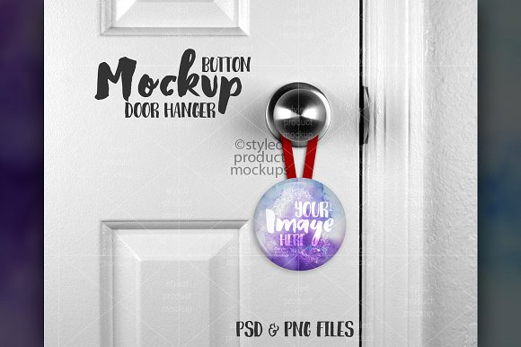 Button Door Hanger Design: