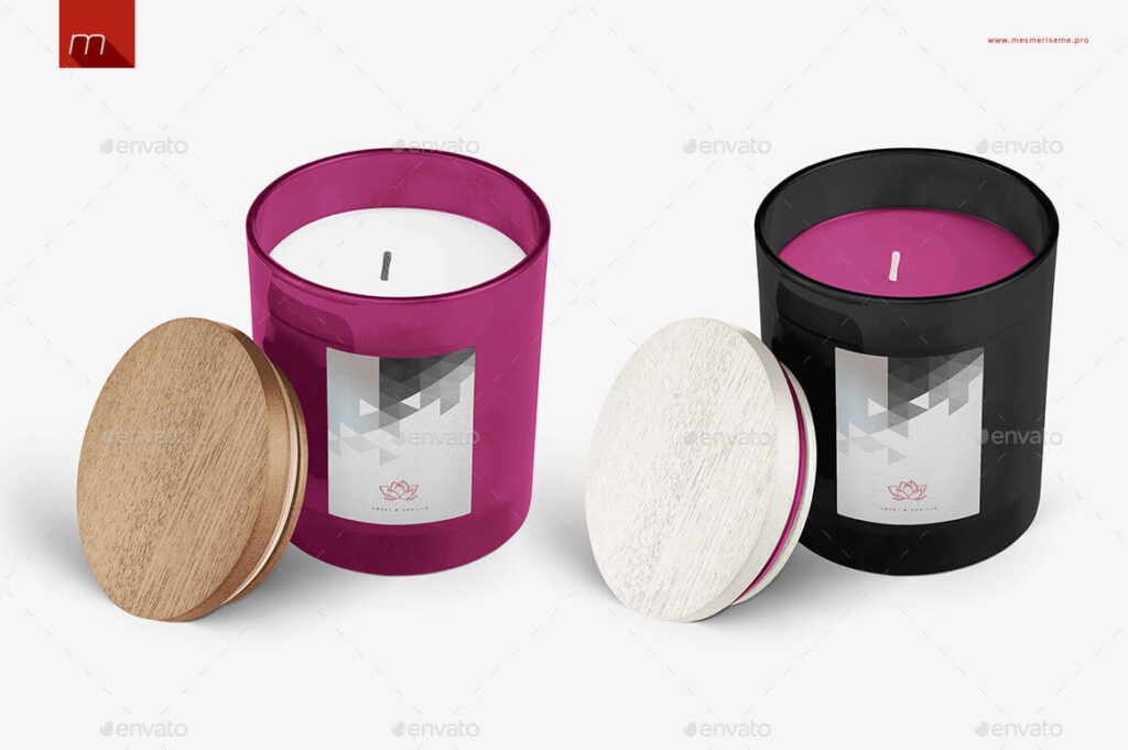 Candle in Glass Mock-up