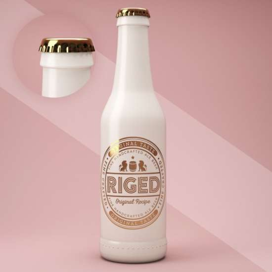 Ceramic beer bottle Unique Design Template:
