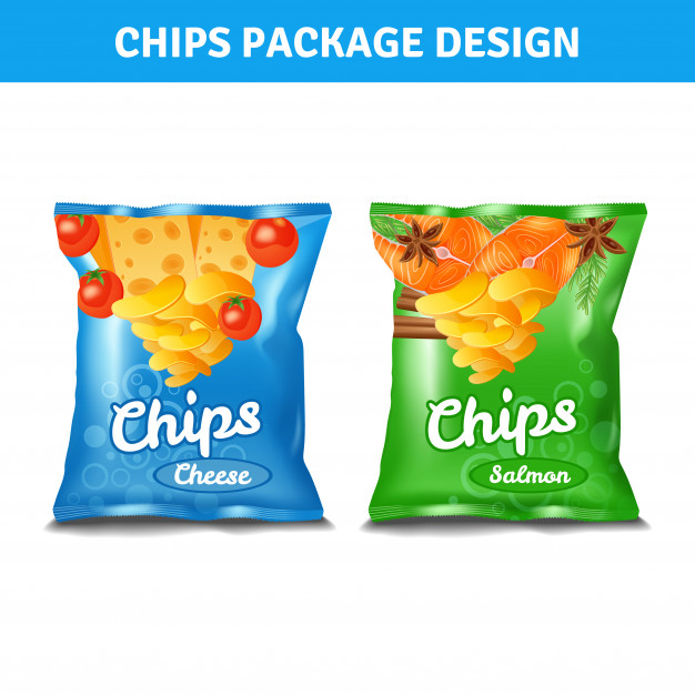 Chips Package Design Vector Illustration