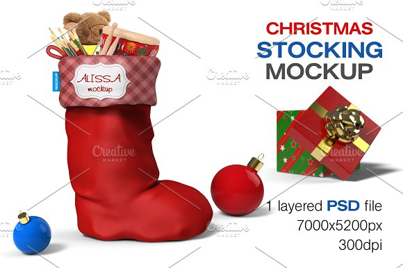 Christmas Shoe PSD