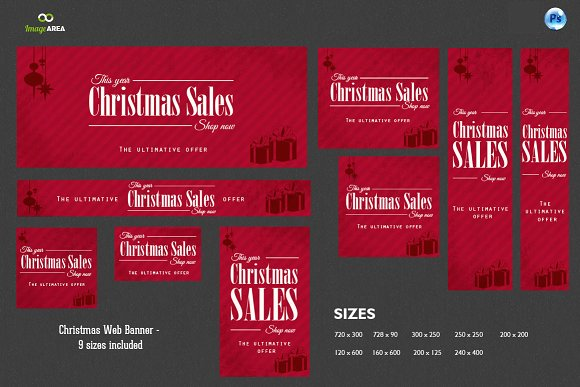 Christmas Web Banner PSD Design: