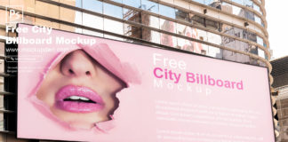 Free City Billboard Mockup PSD Template