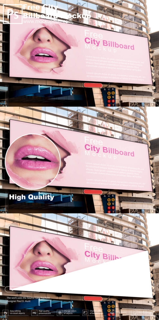Free City Billboard Mockup