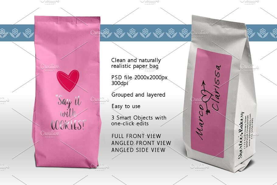 Coffee Pouch, Tea Pack, Paper Bag