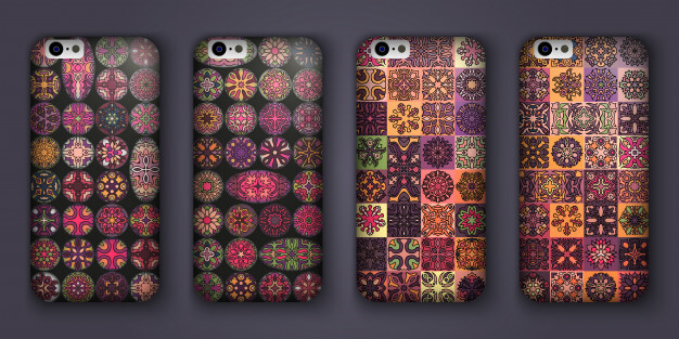 Collections Of Retro Case Cover Premium Vector.