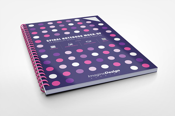 Color Cover Notebook Editable PSD