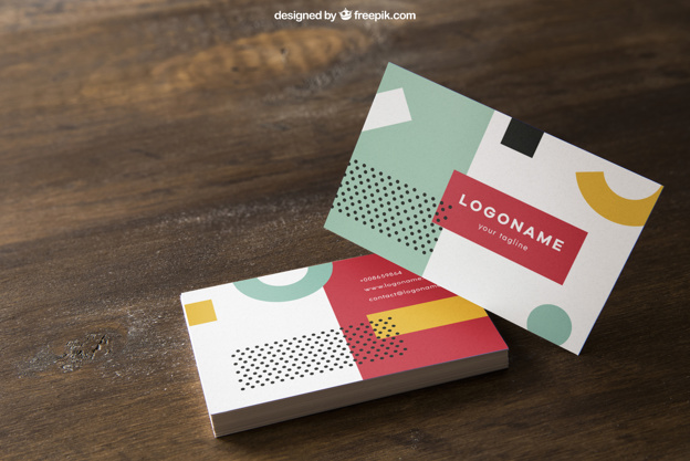 Colorful Square Business Card PSD