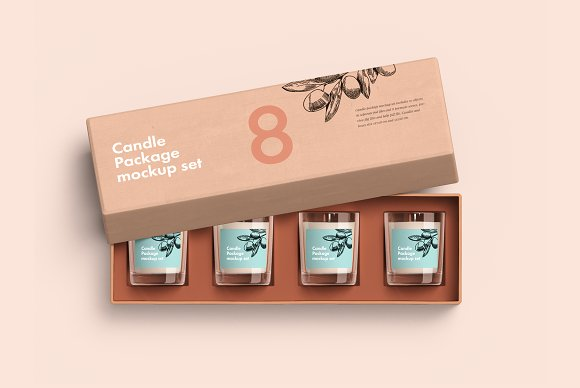 Complete Candle Package Set Mockup