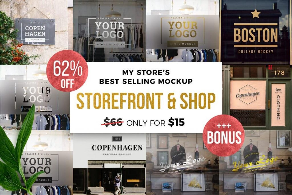 Complete Package of Storefronts Mockup