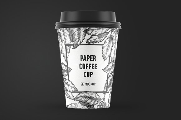 Contrasting Cup of Coffee Design template