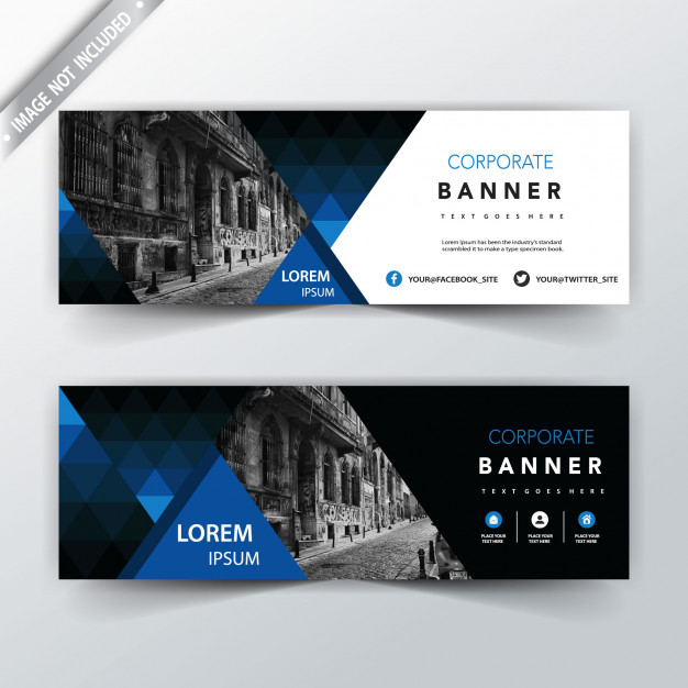 Corporate Blue Web Banner Template: