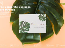Free Corporate Business Card Mockup PSD Template