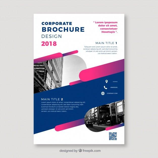 Corporate Design 2018 Brochure Vector File