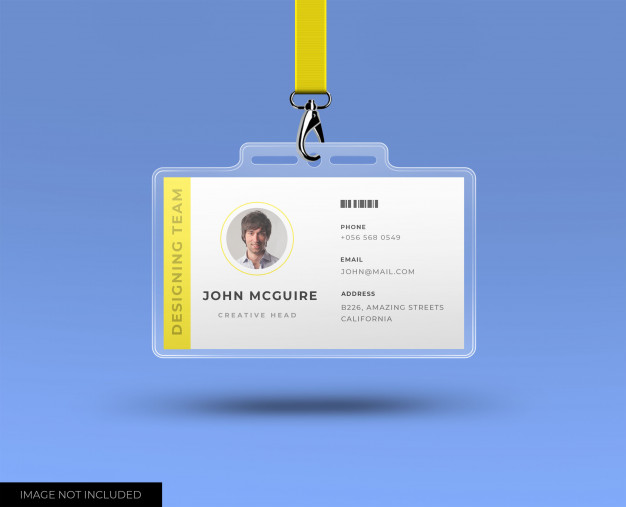 Corporate office id card with mockup Premium Psd