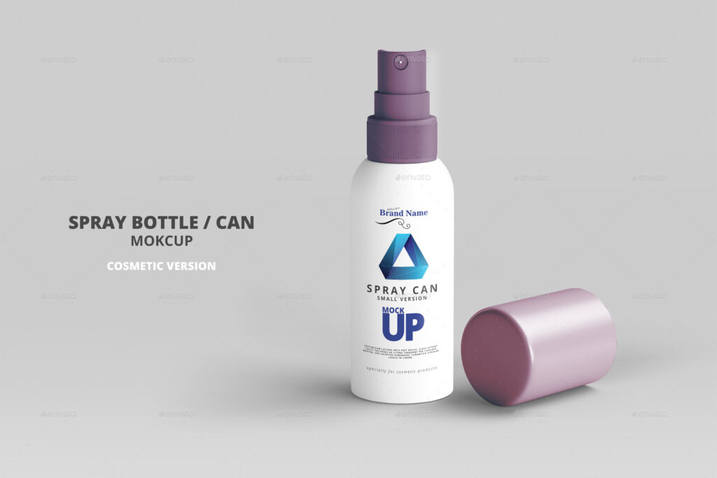 Cosmetic Spray Bottle PSD Template