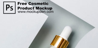 Free Cosmetic Product Mockup PSD Template