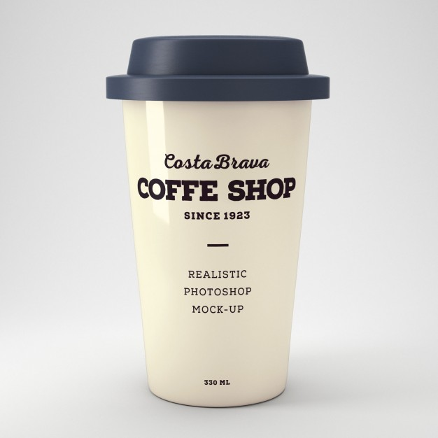 Cream Coffee Cup PSD