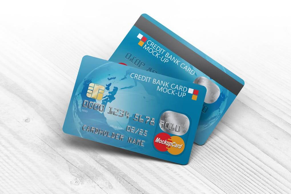 Credit Bank Plastic Card Template