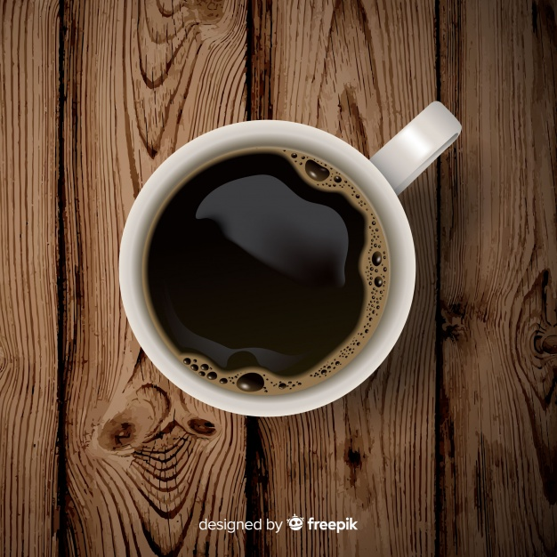 Cup containing Black Coffee Vector File