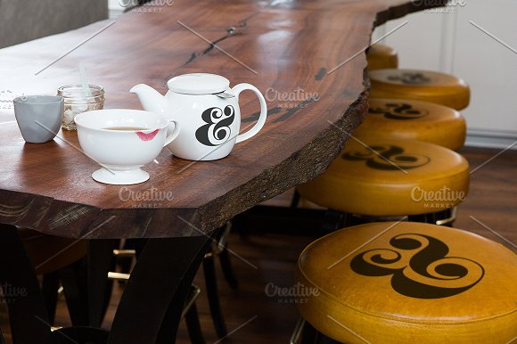 Cup of Coffee Placed on a table Mockup