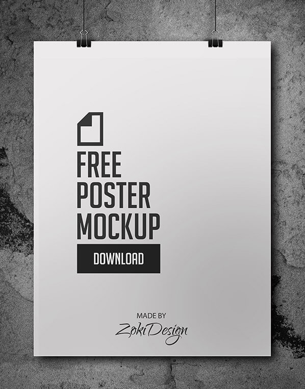 Dark Background Poster Mockup Psd Free