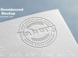 Free Dembossed Logo Mockup PSD Template