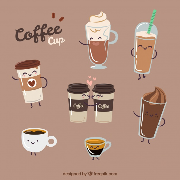 Different Coffee Cups Vector Format
